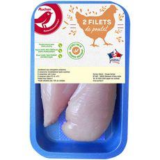 Auchan filets de poulet blanc x2 - 260g