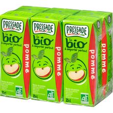 Pressade nectar de pomme bio briquette 6x20cl