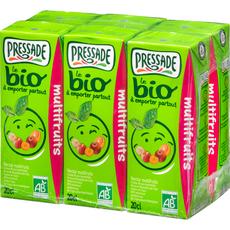 PRESSADE Nectar multifruits bio sans pulpe briquettes 6x20cl
