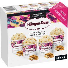 Häagen-Dazs Mini pot macadamia nut brittle x4 -320g