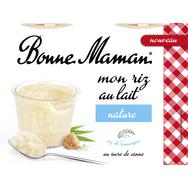 Bonne Maman riz au lait nature 4x100g