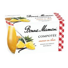 BONNE MAMAN Compotée d'ananas au rhum et vanille 2x130g
