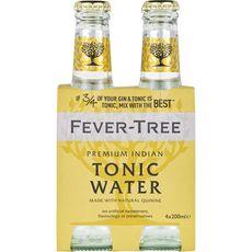 FEVER TREE Boisson tonic premium mixer bouteilles 4x20cl