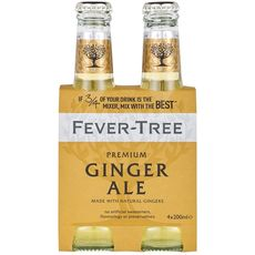 FEVER TREE Boisson ginger ale premium mixer bouteilles 4x20cl