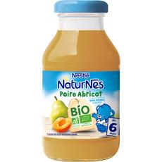 Nestlé Naturnes jus de pommes et d'abricots bio dès 6 mois 200ml