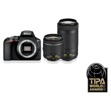 NIKON Appareil photo reflex - D3500 + Objectif 18-55 + 70-300 mm