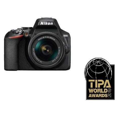 NIKON Appareil Photo Reflex - D3500 + Housse + Objectif 18-55 mm + Carte mémoire 16 Go SDHC