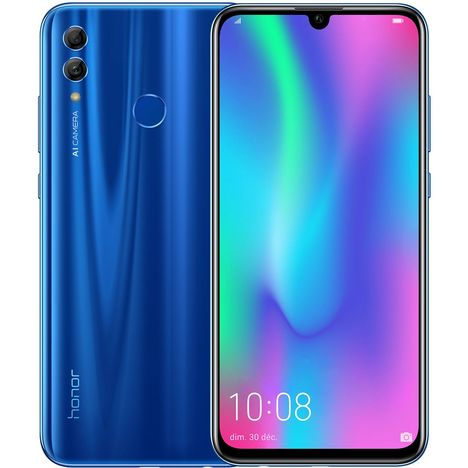HONOR Smartphone 10 LITE - 64 Go - Bleu - Sapphire Blue - 6.21 pouces - 4G