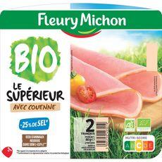 FLEURY MICHON Fleury Michon bio jambon avec couenne 2 tranches 80g