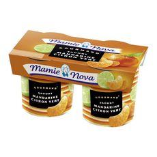 Mamie Nova yaourt gourmand mandarine citron vert x2 -300g