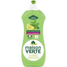 MAISON VERTE Liquide vaisselle aux huiles essentielles citron menthe poivrée hypoallergénique   750ml