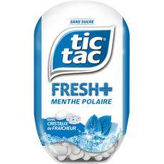 TIC TAC Fresh+ goût menthe polaire sans sucres 60 dragées 40g