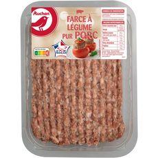 AUCHAN Farce à légumes pur porc 500g