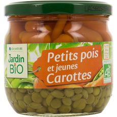 JARDIN BIO ETIC Petits pois et jeunes carottes 330g
