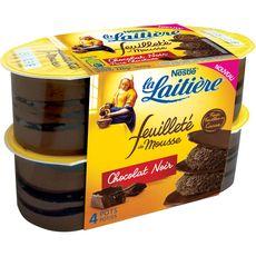 LA LAITIERE La Laitière mousse feuilleté chocolat 4x57g