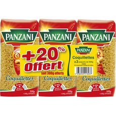 PANZANI Coquillettes 3x500g+20%off