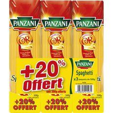 PANZANI Panzani Spaghetti 3x500g +20% offerts 3x500g +20% offerts