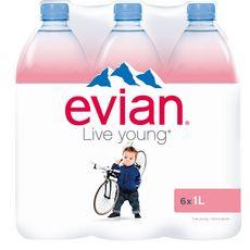 Evian Eau minérale plate naturelle 6x1l