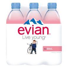 Evian Eau minérale plate naturelle bouteilles 6x50cl