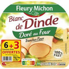 Fleury Michon blanc dinde doré tranche x6+3offertes -270g