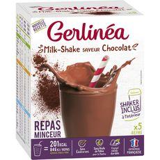 GERLINEA Gerlinéa Milk-shake saveur chocolat x5 -150g 5 repas 150g