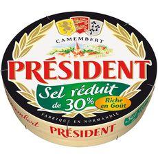 PRESIDENT Président camembert sel réduit de 25% 250g