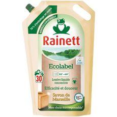 Rainett lessive savon de Marseille recharge 30 lavages 1,98l
