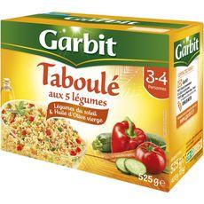 GARBIT Taboulé aux 5 légumes 3-4 personnes 525g