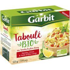 GARBIT Taboulé bio au tomates menthe citron et huile d'olive vierge 3-4 personnes 525g