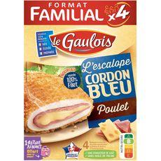 LE GAULOIS Lescalope cordon bleu de poulet 4 pièces 400g