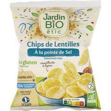 JARDIN BIO ETIC Chips de lentilles à la pointe de sel sans gluten 50g