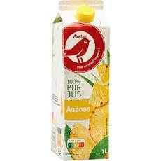 Auchan pur jus d'ananas 1l