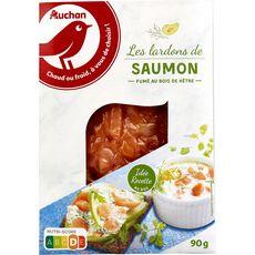 AUCHAN Lardons de saumon fumé 90g