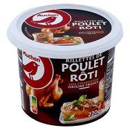 Auchan rillette poulet rôti 220g