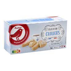 AUCHAN Biscuits cuillers dégustation aux œufs frais, sachets fraîcheur 3x5 biscuits 150g