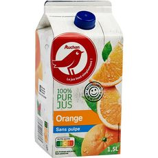 Auchan jus d'orange sans pulpe 1,5l