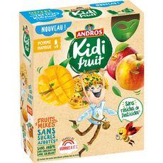 Andros Kidifruit gourdes pomme mangue sans sucres ajoutés 4x85g