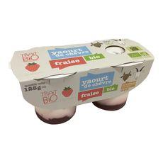Trait Bio yaourt au lait de chèvre à la fraise bio 2x125g