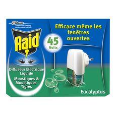 RAID Raid diffuseur électrique liquide eucalyptus 45 nuits efficace 45 nuits 1 diffuseur