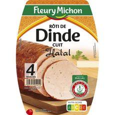 FLEURY MICHON Fleury Michon rôti de dinde halal tranche x4 120g