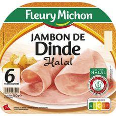 Fleury Michon Jambon de dinde halal 6 tranches 180g