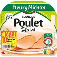 FLEURY MICHON Blanc de poulet halal 10 tranches 300g