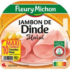FLEURY MICHON Fleury Michon jambon de dinde halal tranche x10 -300g