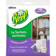 Pyrel PYREL Sachets parfumés fraîcheur lavande pour garde-robe anti-mites
