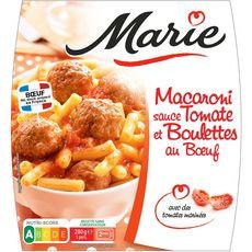 Marie macaroni sauce tomate et boulette de viande 280g