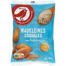 Auchan madeleines coquilles x22 -500g