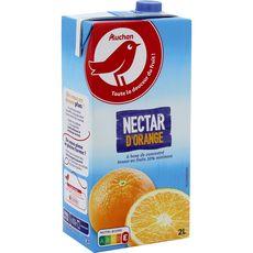 AUCHAN Nectar d'orange à base de concentré brique 2l