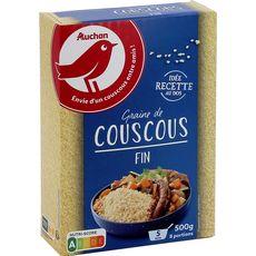 Auchan Couscous grains fins prêt en 5 min 500g