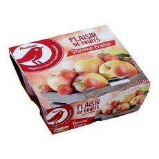 Auchan compote pomme fraise 4x100g