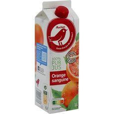Auchan pur jus d'orange sanguine 1l
